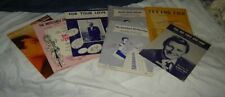 7 sheets vintage sheet music from Joyce's Estate-Vg cond-show, pop etc