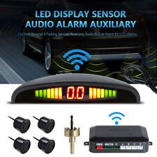 Wireless 4 Parking Sensors LED Display Car Reverse Buzzer Alarm Kit Radar Backup
