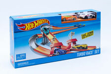 Hot Wheels Turbo Race Set WORKING FLAG Toy Racing Car Boys Girls Xmas Gift