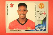 PANINI CHAMPIONS LEAGUE 2012/13 N. 530 WELBECK M. UNITED BLACK BACK MINT!