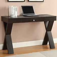 X-Legs One Drawer Brown Writing Desk Home Living Room Office Study Furniture