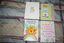 Lot of 4 Happy Birthday greeting cards+envelops mainly meant for MOMMY