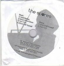 (BR17) The Spores, 4 audio tracks and 2 videos - DJ CD