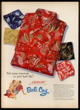 1952 Arrow Bali Cay Aloha Hawaiian shirt 5 designs vintage print ad