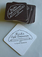 Cocktail Coasters from Rick's Cafe Americain as depicted in CASABLANCA Bogart