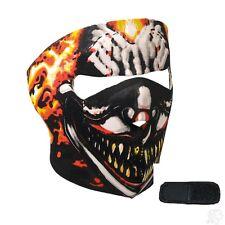 Smoking Evil Clown Cigar Skull Neoprene Full Face Mask & Extender Large Head XL