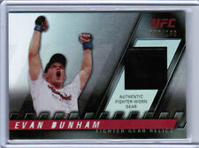 2010 TOPPS UFC KNOCKOUT EVAN DUNHAM AUTHENTIC FIGHTER-WORN GEAR RELIC /188