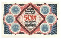 Notgeld - Bielefeld - Stadt Bielefeld - 50 Pfennig - 1921 - Buchstabe N
