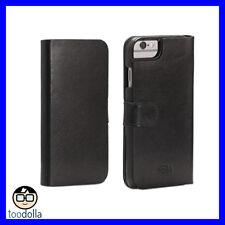 SENA Antorini Premium Genuine Leather Wallet case, iPhone 6 Plus/6s Plus, Black