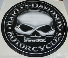 harley davidson motorcycle bike willie g skull Huge trailer decal sticker logo