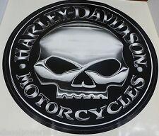 harley davidson motorcycle bike willie g skull Huge trailer decal sticker logo