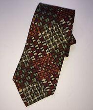 MISSONI CRAVATTE Men's Neck Tie Abstract Cubes 100% Italian Silk Luxury