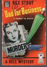 Bad For Business by Rex Stout 1940 Dell 299 PB Gerald Gregg Cover FREE S/H