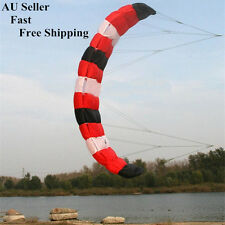 2mt Beginner Stunt Power Traction Trainer red outdoor kite with flying lines