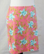 JONES NEW YORK SIGNATURE Biscayne Bay Pink Skirt Turquoise Flowers 14 Petite