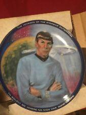 Star Trek Tos Spock Commander Plate Hamilton Collection 4999