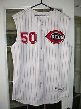 Cincinnati Reds Kent Mercker 2005 Game Used Home Baseball MLB Jersey - Braves