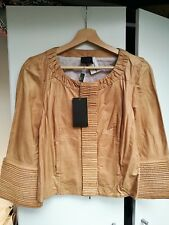 Brand New Fendi Limited Edition Beige Leather Ruffle Jacket £3495