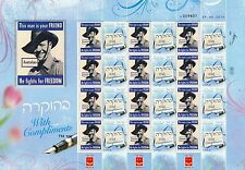 ISRAEL 2015 70th ANNIVERSARY END OF WW.2 AUSTRALIA FIGHTS FOR FREEDOM SHEET MNH