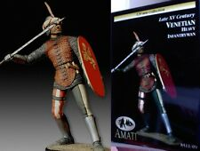 q Figurino AMATI 120 mm - Fante pesante Veneziano (XV secolo)