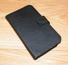 Unbranded Black Faux Leather Folding Wallet Case for Samsung Galaxy Note 2