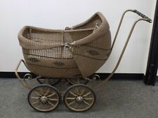 Antique Baby stroller carriage turn of the century Victorian Ratan Extremely nic