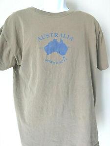 AUSTRALIA T Shirt Tee Men's Brown Men's Aussie Tourist Large Down Under
