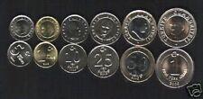 TURKEY 1 5 10 25 50 KURUS 1 LIRA 2005-2006 BI METAL UNC 6V COIN 100 COMPLETE SET