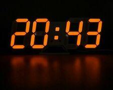 Modern Digital Alarm Clock Displays 3D Led 8mm Brief Wall Clocks For Home Decors