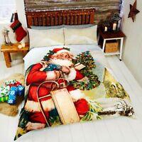 Rapport Multi St. Nicholas Santa Father Christmas Festive Duvet Set S/D/K