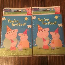 New Peppa Pig Birthday Invitations & Thank You Cards 8 pk x 2 Packs