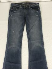 HOLLISTER Jeans Women's 30 X 34 Cotton CALI Flare Denim Distressed ~J103