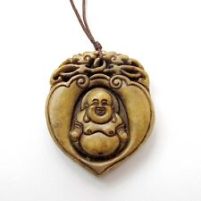 Old Jade Gem Tibetan Buddhist Happy Buddha Chinese Zodiac Dragons Amulet Pendant