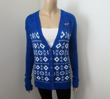 NWT Hollister Womens Patterned Cardigan Size XS Royal Blue