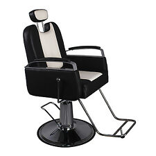 Barber Chair Hair Styling Beauty Salon Spa Shampoo Equipment Black White New