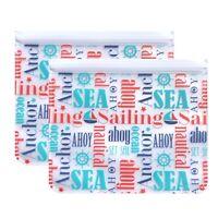 Reusable 2-Piece Large Sandwich Quart Freezer Bags are Kid Eco-Friendly Nautical