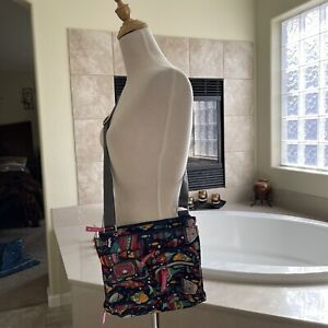 Lily Bloom Crossbody Purse Tote Bag Lots Of Pockets! New Msrp $55.00