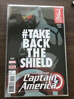 SAM WILSON CAPTAIN AMERICA #14 NM TAKE THE SHIELD BACK MARVEL COMICS