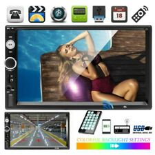 "7"" Autoradio 2DIN Stereo Radio MP5 GPS Navi for Mirror Link Touch + TELECAMERA"