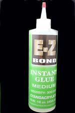 E-Z BOND SUPER GLUE (Cyanoacrylate) 16 OZ MEDIUM 300 cps