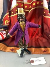 "9"" Antique American Composition Schoenhut Circus Black Midway Barker Doll! Rare!"