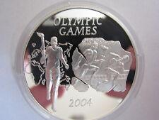 500 Sika  Ghana Olympiade Athen Fackelläufer 2004 PP 2003 Silber