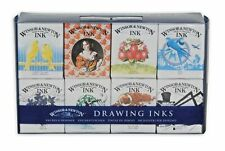 Winsor & Newton Drawing Inks Henry Collection 14ml Set of 8 Colours BRAND NEW