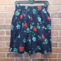 Vintage High Rise Floral Sweat Shorts Size M