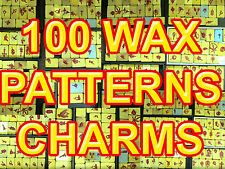 #1 100 WAX CHARMS PATTERNS MOLDS JEWELRY TOOLS GOLD RUBBER VULCANIZER