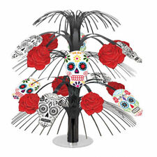 Halloween Day of the Dead Cascade Centerpiece Table Decoration Skull and Rose