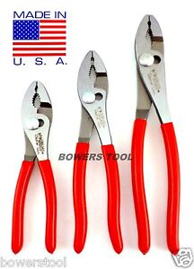 """Wilde Tool 3pc Combination Slip Joint Plier Set 6, 8 & 10"""" MADE IN USA Pliers"""