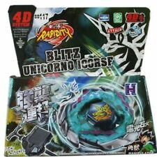 Beyblade Metal Fusion 4D Blitz/Striker Fury Masters 4D Beyblade+LAUNCHER BB117.