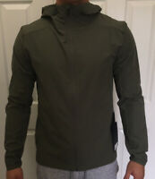 Lululemon Men Size XL Warp Lite Jacket Packable Green MEOL Full Zip Hooded Vent