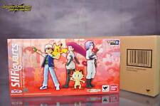 Bandai 4549660149453 S.H. Figuarts Satoshi and Team Rocket Limited Set Pokemon